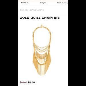 BaubleBar Gold Quill Bib necklace
